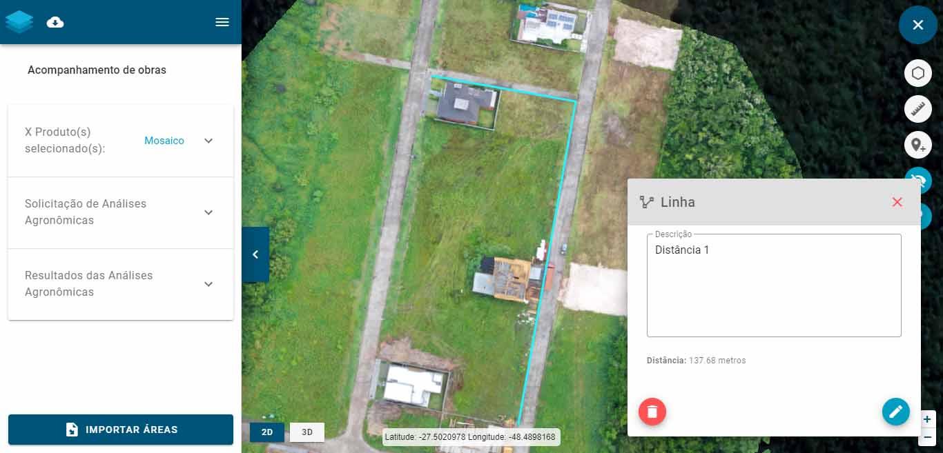 Ferramentas básicas: como salvar coordenadas, selecionar áreas e medir distâncias